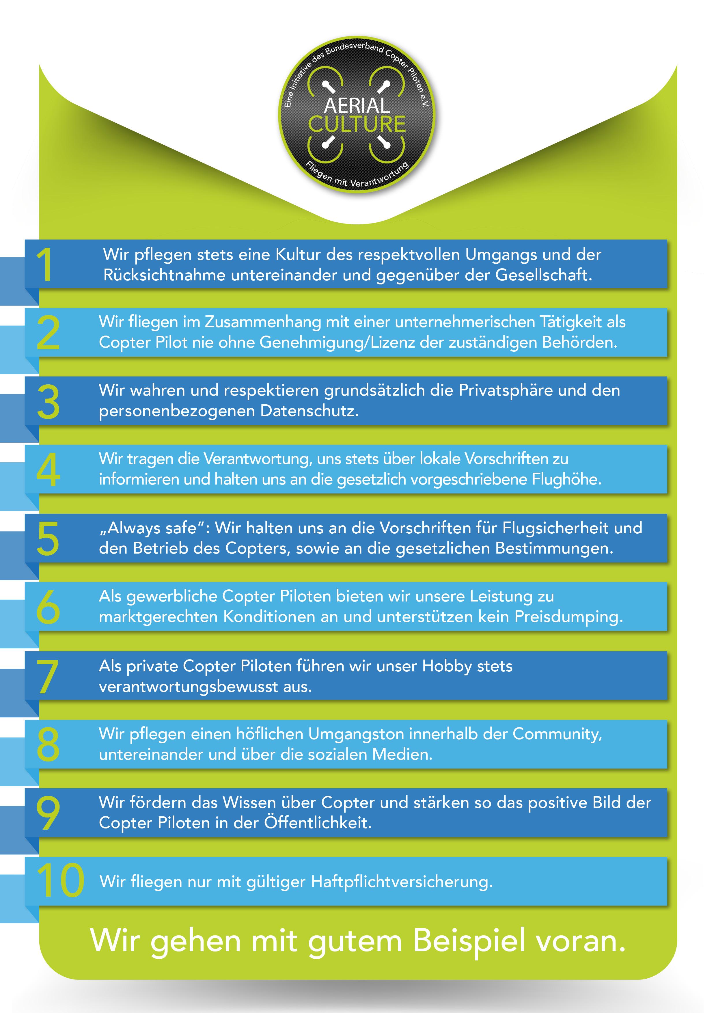 Aerial Culture Regeln (BVCP)